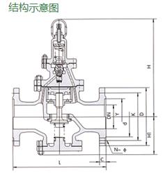 进口先导活塞式蒸汽减压阀