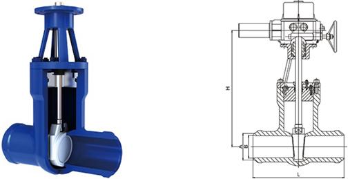 进口电动电站高温高压焊接闸阀