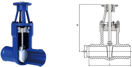 进口电站高温高压焊接闸阀