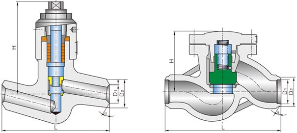 进口高温高压电站升降式止回阀