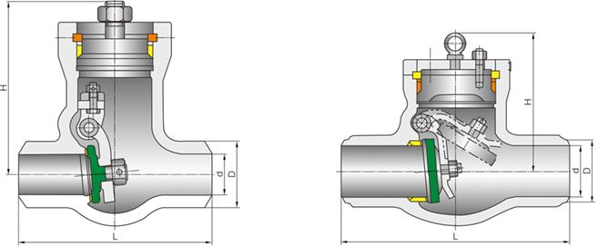 进口高温高压电站旋启式止回阀