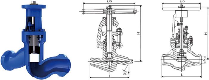 进口电站高温高压焊接截止阀