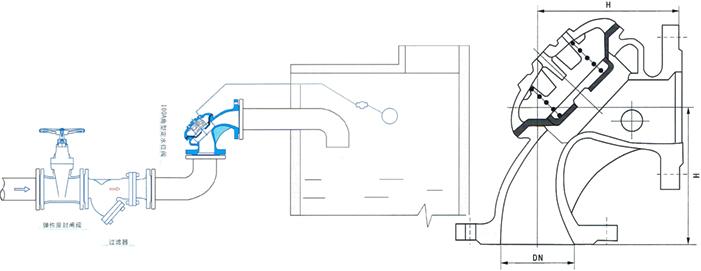 进口角型定水位阀